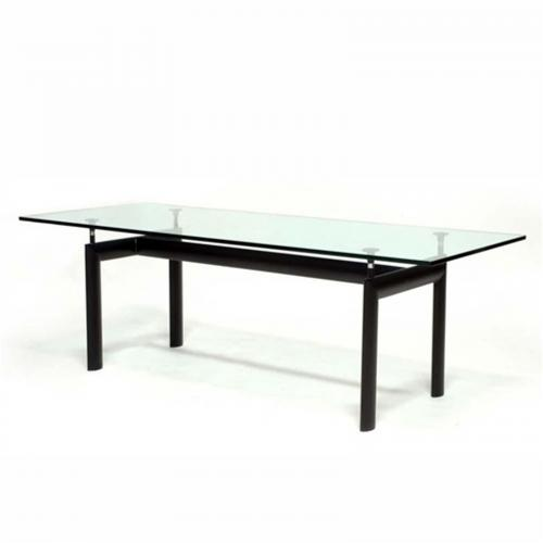 Square Dining Table in Clear