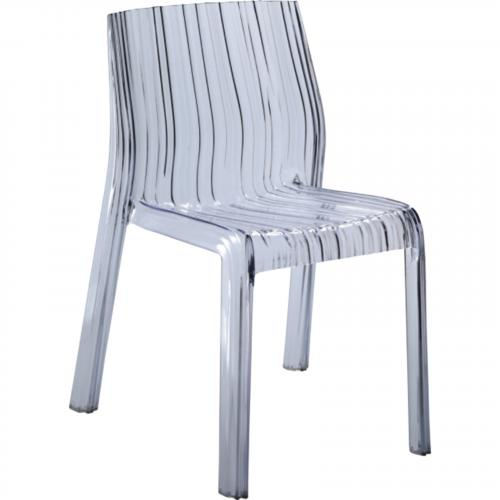 Stripe Dining Chair in Clear