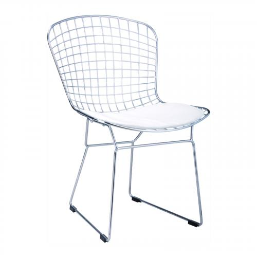 Wire Side Chair in Red