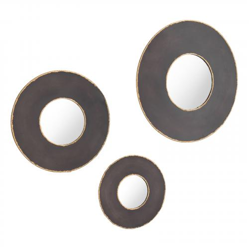 Alcala Round Mirrors Set of 3 in Black