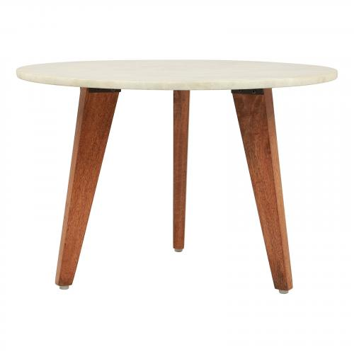 Axton Small Coffee Table in Stone & Brown