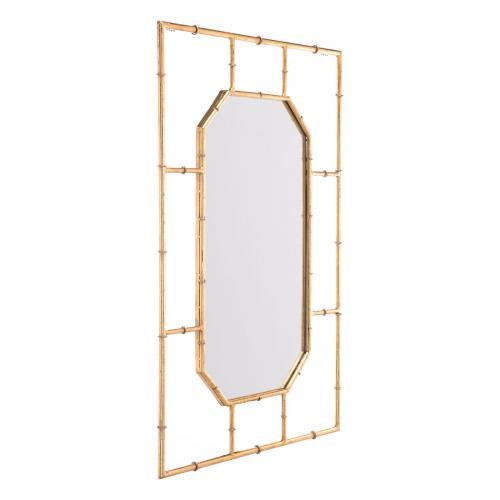 Bamboo Rectangular Mirror in Gold