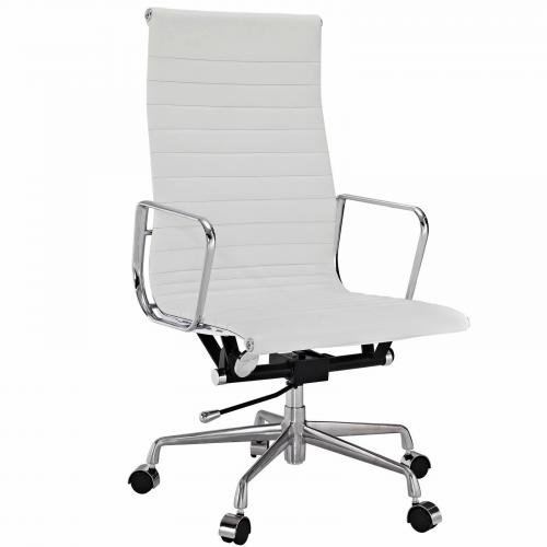 Classic Aluminum Executive Office Chair White