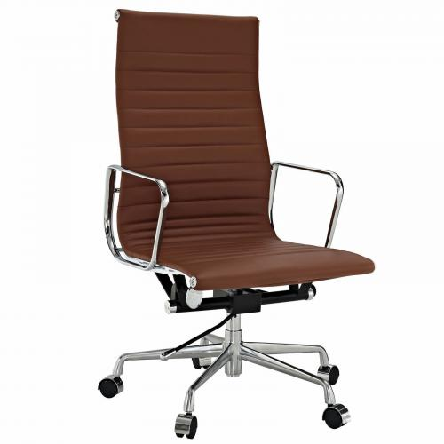 Classic Alum. Executive Office Chair Terracotta