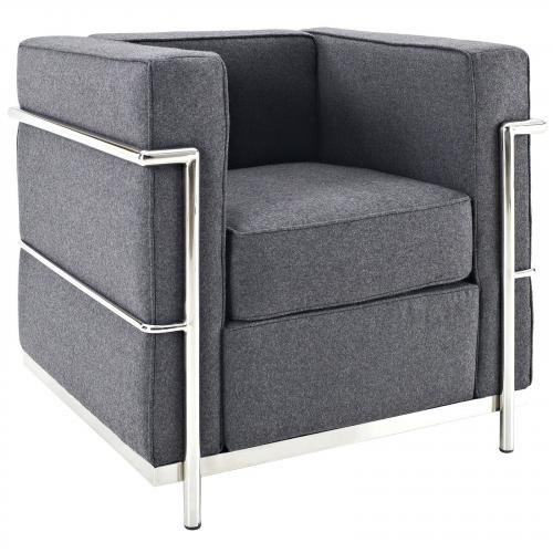 Le Corbusier Style LC2 Arm Chair - Wool
