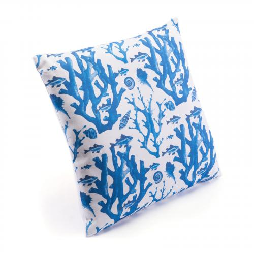 Blue Reef Pillow in Blue & White