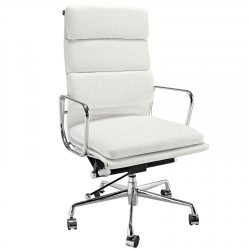 Classic Padded Executive Office Chair White