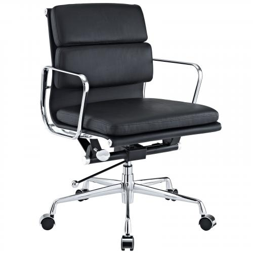 Classic Padded Mid Back Office Chair Black