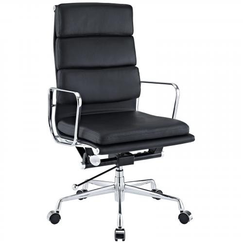 Classic Padded Executive Office Chair Black
