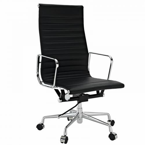 Classic Aluminum Executive Office Chair Black