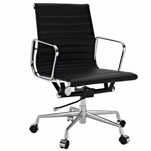 Classic Alum. Management Office Chair Black