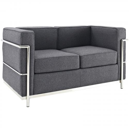 Le Corbusier Style LC2 Love Seat - Wool