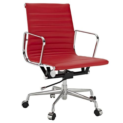 Classic Alum. Management Office Chair RED