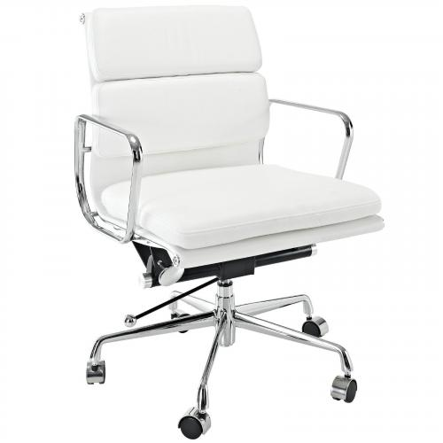 Classic Padded Mid Back Office Chair White