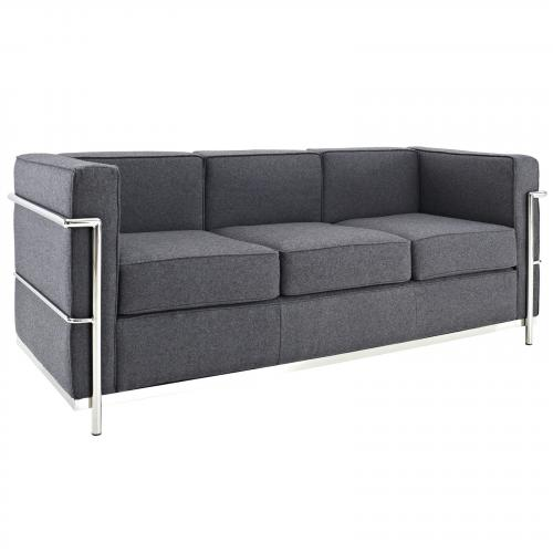 Le Corbusier Style LC2 Sofa Couch - Wool