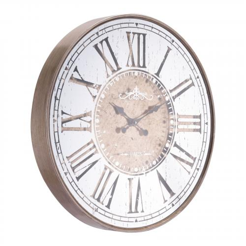 Hora Clock in Antique Silver