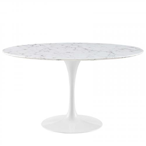 """Lippa 54"""" Artificial Marble Dining Table"""