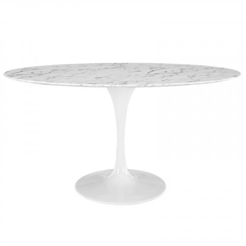 """Lippa 60"""" Oval Marble Dining Table"""
