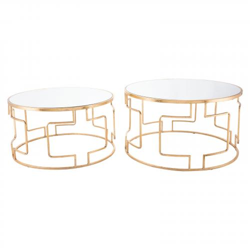 King Tables Set of 2 in Gold