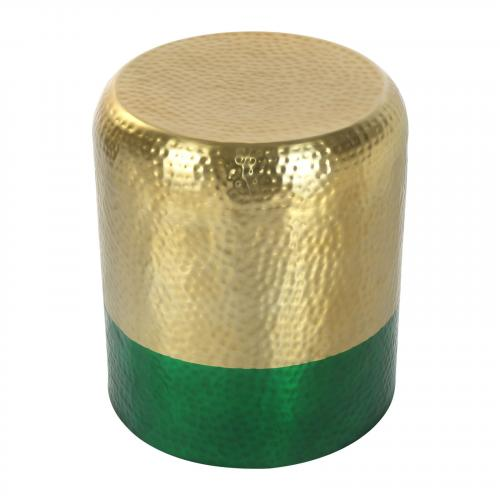 Mia Accent Table in Gold & Green