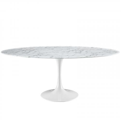 "Lippa 78"" Artificial Marble Dining Table"