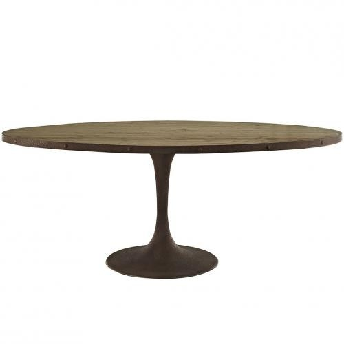 """Drive 78"""" Oval Wood Top Dining Table"""