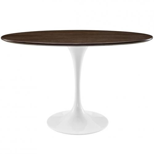 "Lippa 48"" Oval-Shaped Walnut Dining Table"