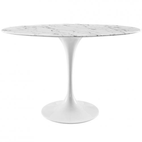 "Lippa 48"" Oval Marble Dining Table"