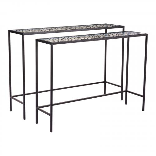 Web Console Tables Set of 2 in Black