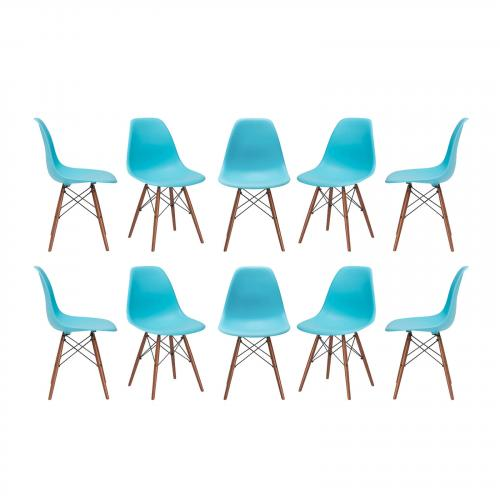 Vortex Side Chair Walnut Legs ( Set of 10)