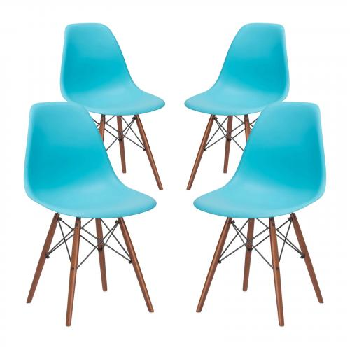 Vortex Side Chair Walnut Legs ( Set of 4)