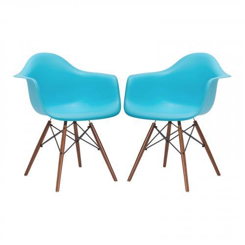 Vortex Arm Chair Walnut Leg ( Set of 2)