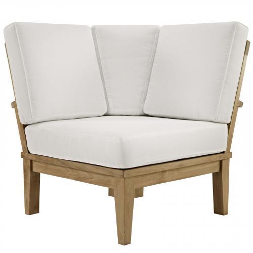 Marina Outdoor Patio Teak Corner Sofa