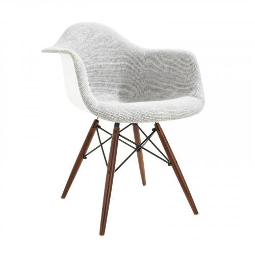 Vortex Padded Arm Chair with Walnut Base