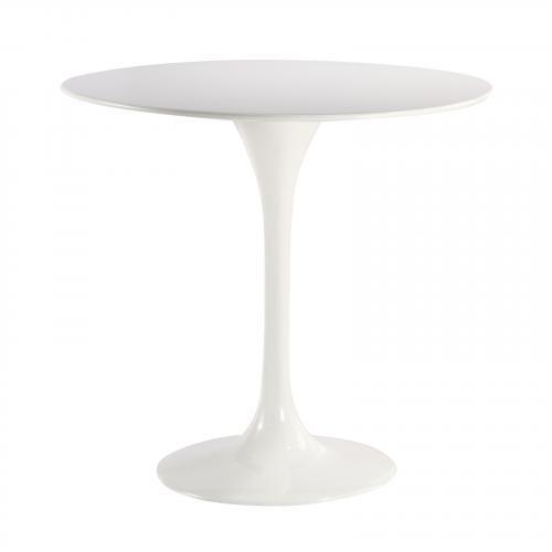 "Daisy 31"" Fiberglass Dining Table in White"