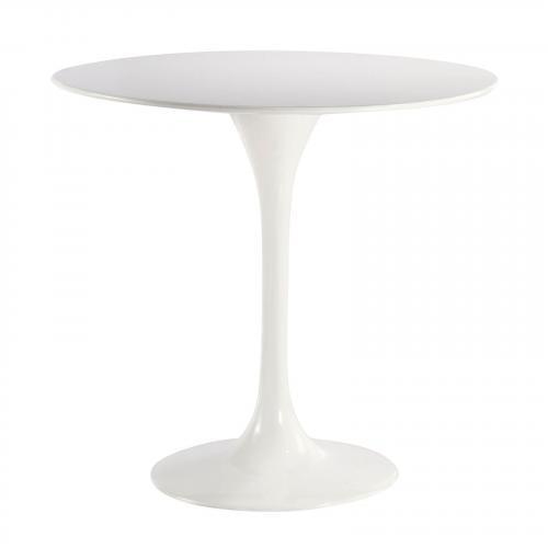 "Daisy 40"" Fiberglass Dining Table in White"