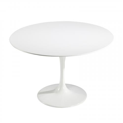 "Daisy 48"" Fiberglass Dining Table in White"