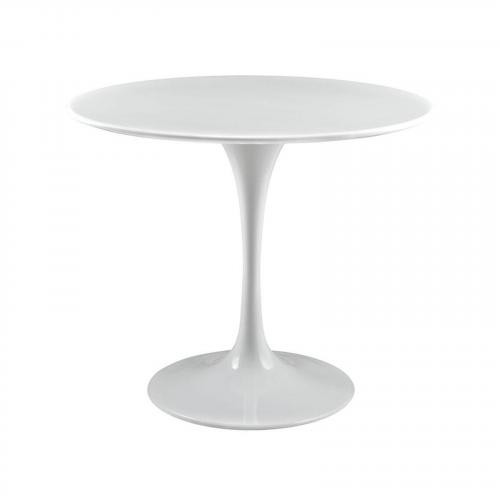 "Daisy 36"" Wood Top Dining Table in White"