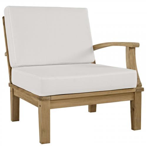 Marina Outdoor Patio Teak Left-Facing Sofa