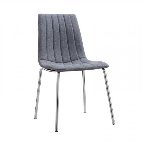 Pierce Fabric Side Chair in Grey (Set of 4)