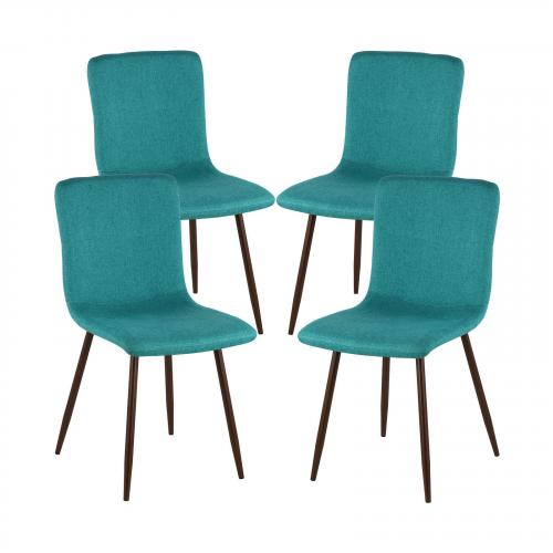 Wadsworth Dining Chair with Walnut Legs ( Set of 4)