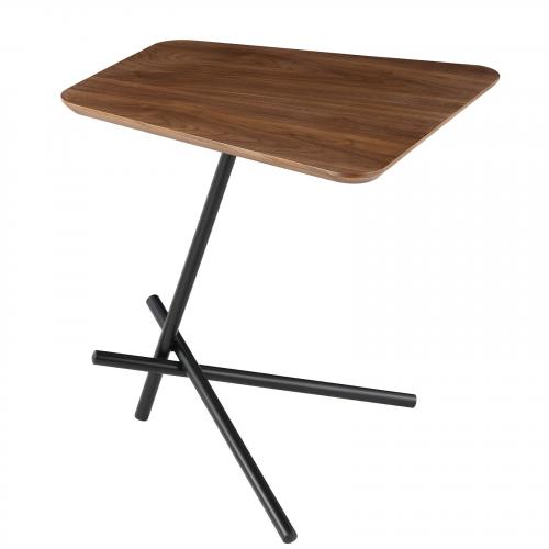 Trapezoid Walnut Side table