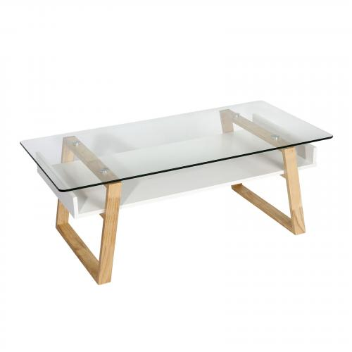 Segovia Glass Top Coffee Table