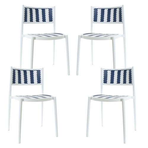 Tuxedo Indoor / Outdoor Dining Chair (Set of 4)