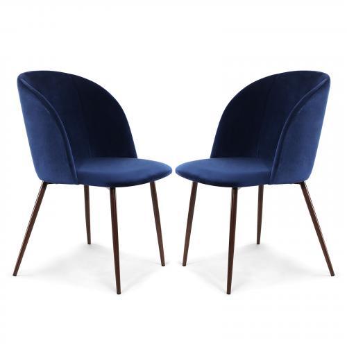 Kantwell Velvet Dining Chair ( Set of 2)