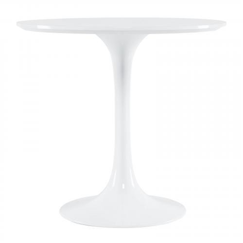 """Daisy 30"""" Round Wood Top Dining Table in White"""