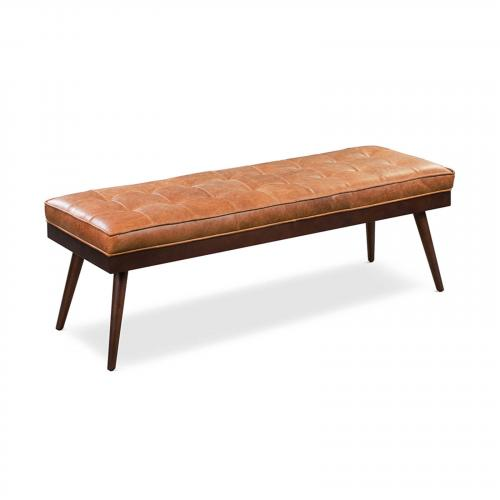 Luca Leather Bench