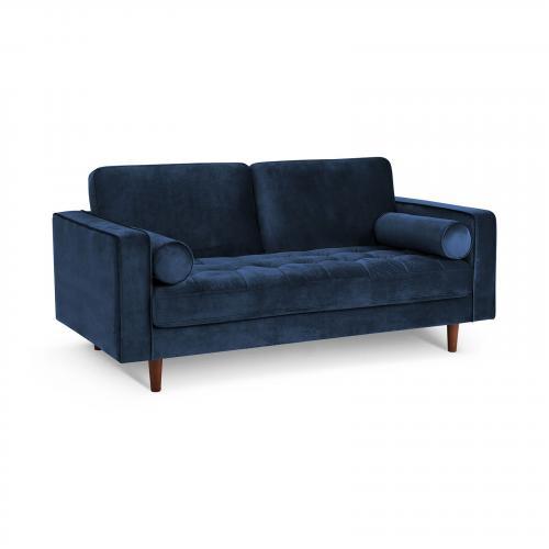 "Inga 72"" Apartment Sofa with Velvet in Space Blue"