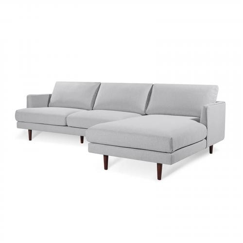 Baley Right Sectional in Harbor Grey