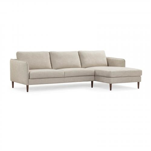 Avalon Right Sectional Sofa in Countryside White